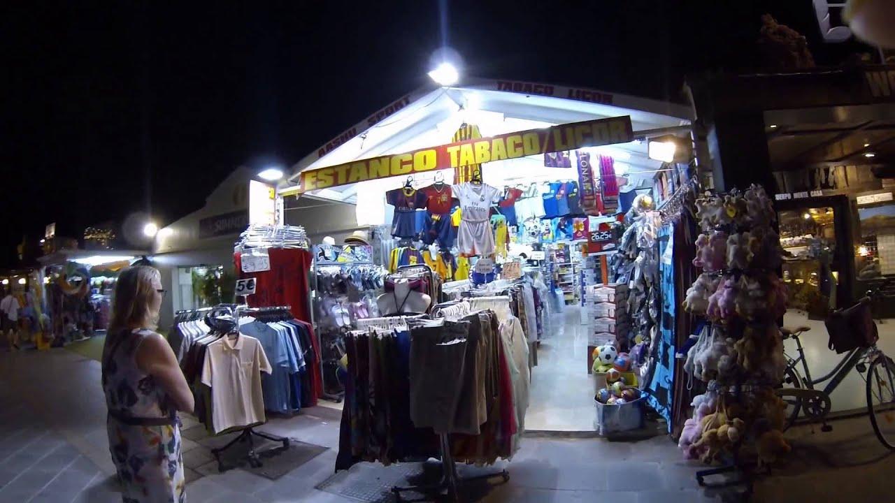 Walk along the main strip at night lanzarote puerto del - Lanzarote walks from puerto del carmen ...