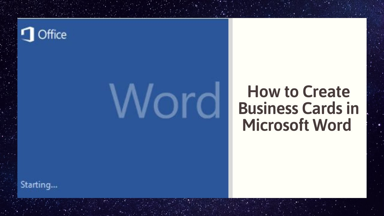 How to Create Business Cards in Microsoft Word 2010 - YouTube