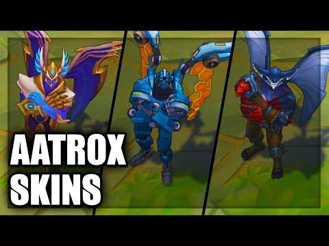 All Aatrox Skins Spotlight Mecha Justicar Sea Hunter (League of Legends)