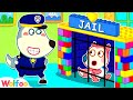Police Wolfoo Catch Baby in Colorful Lego Jail - Wolfoo Pretends to Be a Parent | Wolfoo Channel