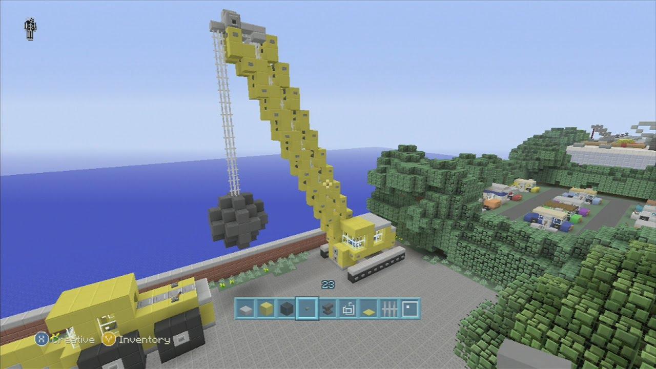 Spanklechank 39 s minecraft tutorials how to make a wrecking for Make a crane