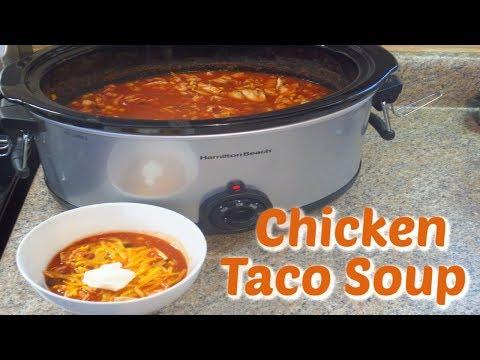 Chicken Taco Soup - Easy & Delicious Crockpot Recipe!