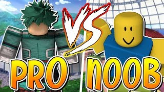 PRO VS NOOB HERO'S ONLINE HEROS VS VILLAINS (Roblox)