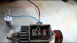 видео Как поменять вращение на однофазном двигателе