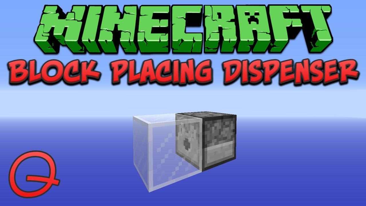 Minecraft: Block Placing Dispenser (Quick) Tutorial