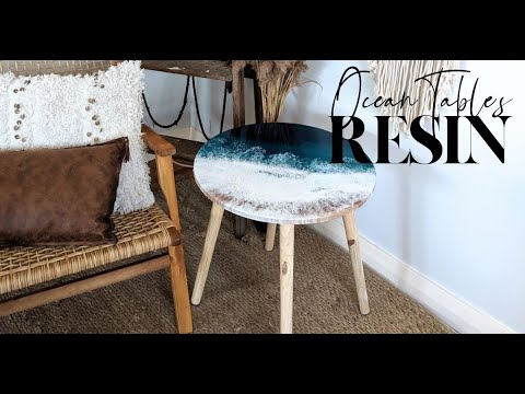 Ocean Epoxy Resin Art Coffee Table | Fluid Resin Art Pour | The Fifth Design