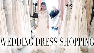 COME SHOPPING WITH ME FOR MY WEDDING DRESS | Lydia Elise Millen