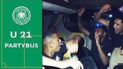 U 21 eskaliert im Partybus nach dem Spiel gegen Österreich