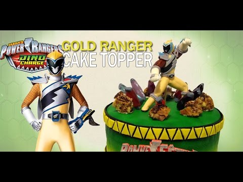 Power Rangers Dino Charge Gold Ranger Cake Topper How To