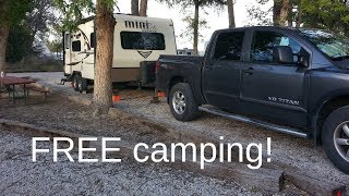 Free Camping in Lovell Wyoming.  Water, Dump, showers, restroom.