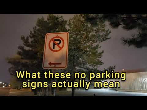 What These No Parking Signs Actually Mean