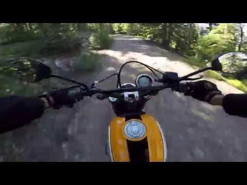Ducati Scrambler in the Colorado Rockies rough ride