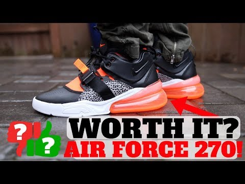 d3499678e0b After Wearing: NIKE AIR FORCE 270 Worth Buying? - YouTube