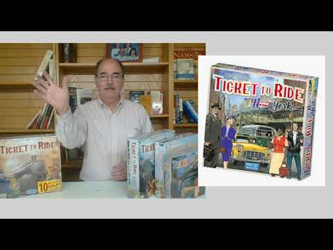 The Game of the Week this week is Ticket to Ride - actually 4 versions of TTR! |