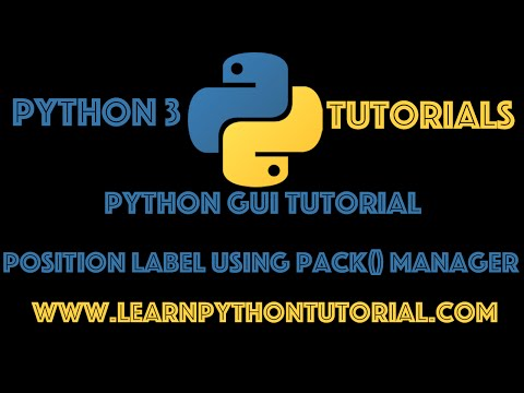 Python GUI Tutorial: How to use pack geometry manager