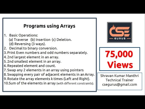 Array Programs with