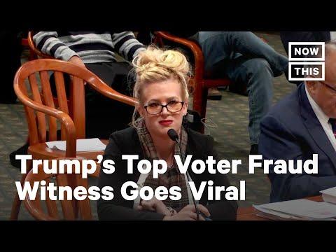 Rudy Giuliani's Star Voter Fraud Witness at Michigan Hearing   NowThis