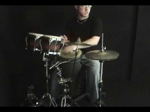 This is a contraption that I came up with to combine some of my percussion toys in to something I can create drum set sounds out of for acoustic gigs.