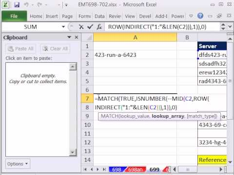 Lookup A Number >> Excel Magic Trick 699 Vlookup Mixed Number Letter Partial Text Extract For Lookup Value
