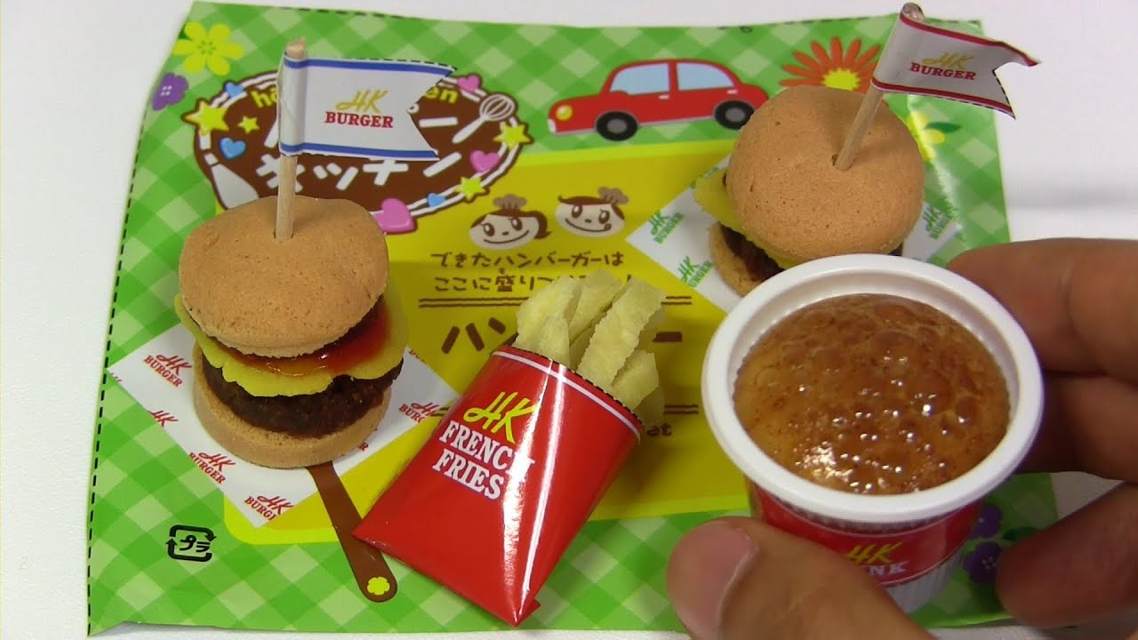 Kracie Happy Kitchen Hamburger ~ ハッピーキッチン ハンバーガー 知育菓子
