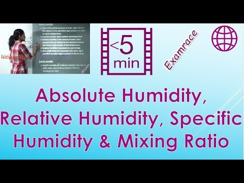 Absolute Humidity, Relative Humidity, Specific Humidity & Mixing Ratio - Geography Climatology