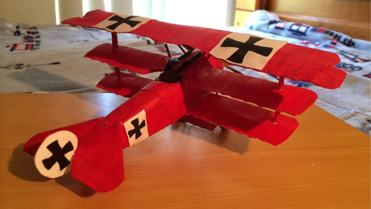 Papercraft How to make The Red Baron (Fokker Dr. 1 Triplane) Paper Model Tutorial