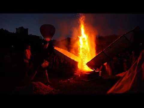 Шоу огненных скульптур «Тепло души»