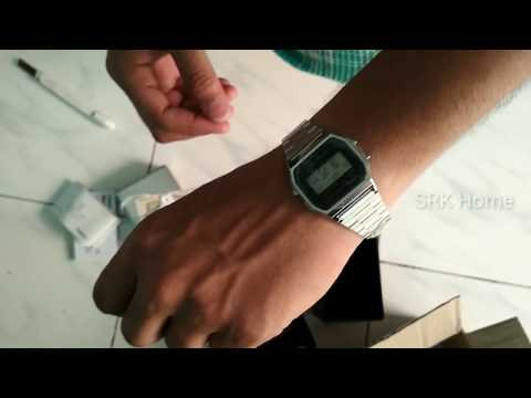 Unboxing Casio D011 A158WA 1DF Vintage Series Digital silver