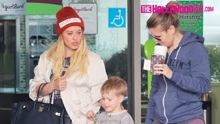 Hilary Duff Takes Her Son Luca Out For Ice Cream Before Dropping Off Flowers With A Friend 1.13.17