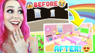 EXTREME TINY DREAM HOME MAKEOVER! Making the Starter Home in Overlook Bay Look Expensive! (Roblox)