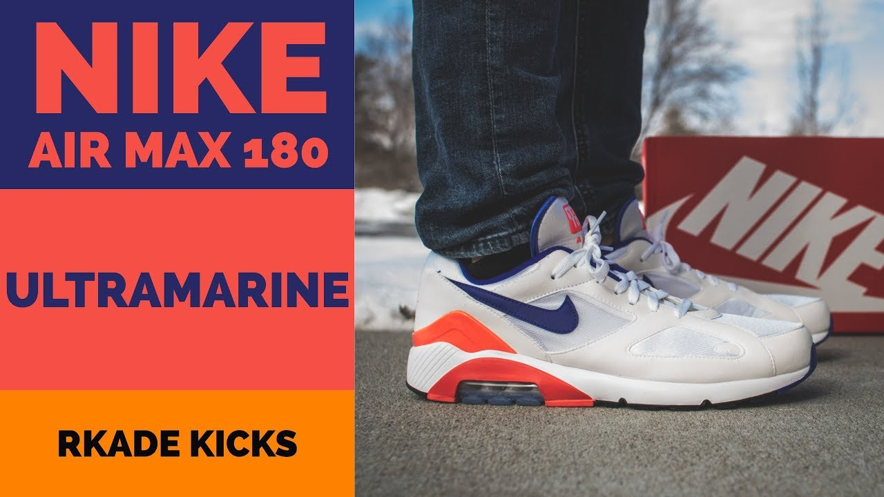 9533af8a2a7b Nike Air Max 180  Ultramarine  W  On Foot - YouTube