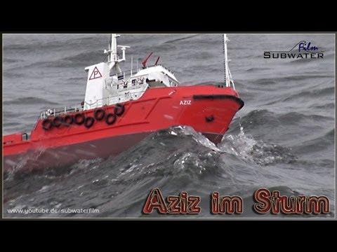 rc Offshore Ship AZIZ | fighting big waves! 🌊🚤🎬