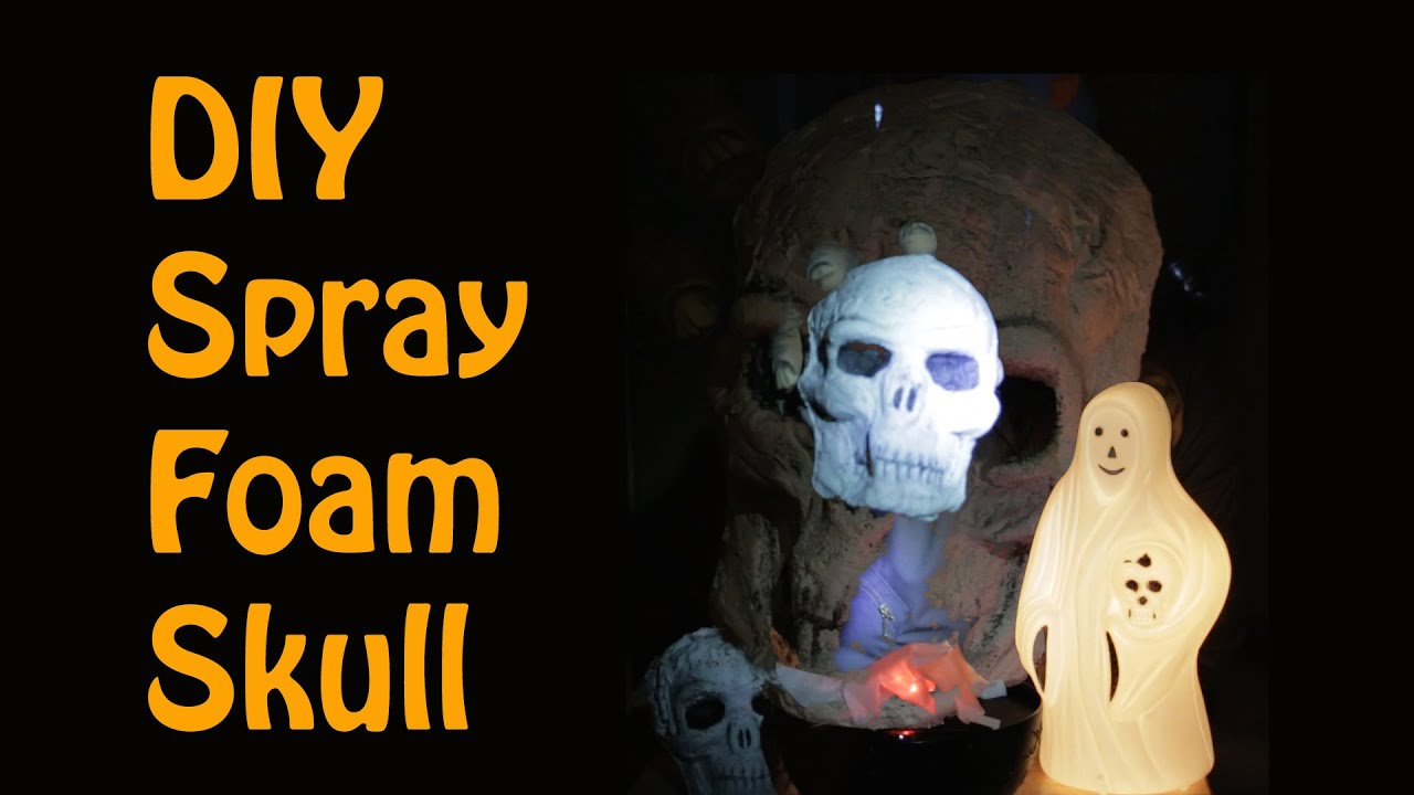 DIY Spray Foam Halloween Skull (with Great Stuff) - YouTube