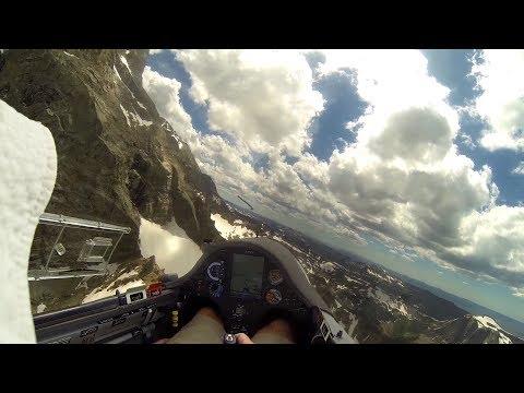 Glider Pilot Gets Desperately Low in Teton Mountains