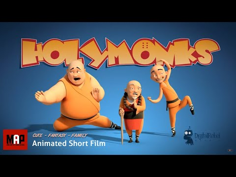 "3D Animated Short Film ""HOLY MONKS"" Funny Animation Cartoon for Kids by Digital Rebel Studio"