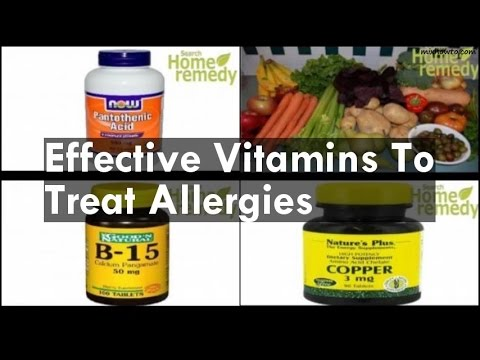 Vitamins To Treat Allergies