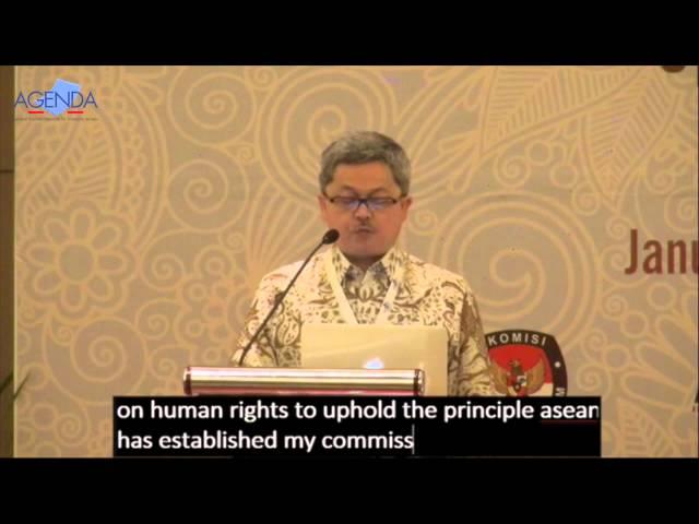 Keynote Speech – Rafendi Djamin – AGENDA 3rd Regional Dialogue