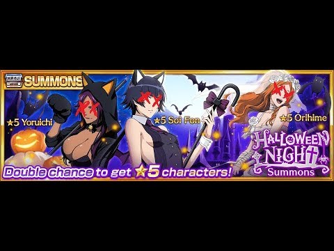 [Bleach: Brave Souls] Summoning: Halloween Night gacha (2050 orbs) Get rekt edition
