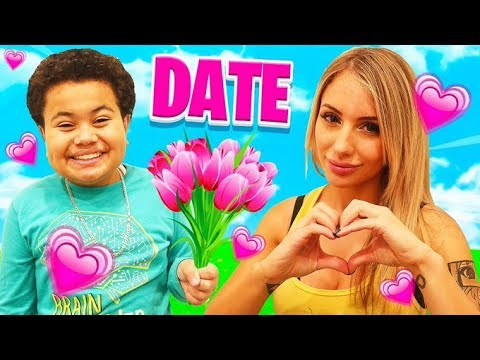 My Little Brother Goes On A Date With His DREAM CRUSH! GIRLFRIEND FOR 24 HOURS - CHALLENGE ❤️