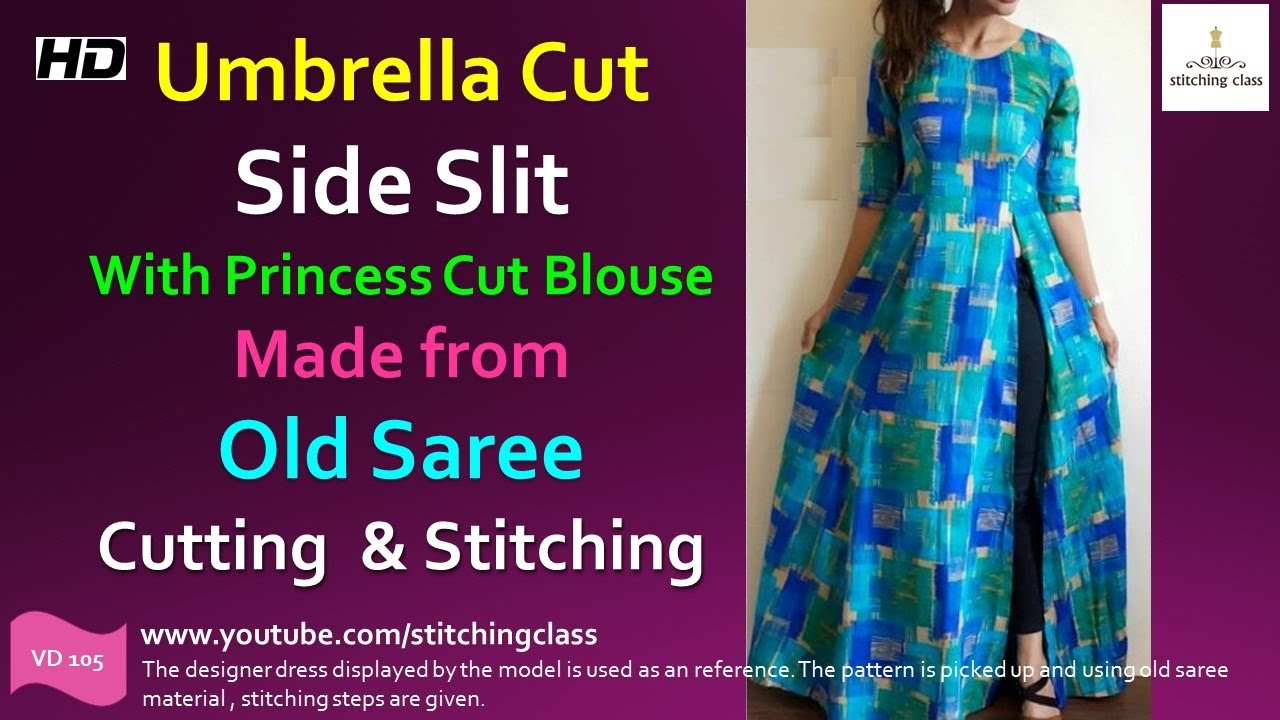 Umbrella Cut Side Slit Kurti With Princess Cut Blouse How To Make