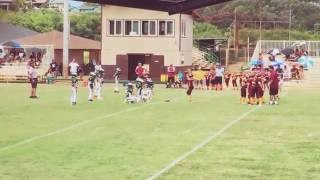 Koloa vs Eagles pop Warner game Kapaa 34 koloa 6 thumbnail