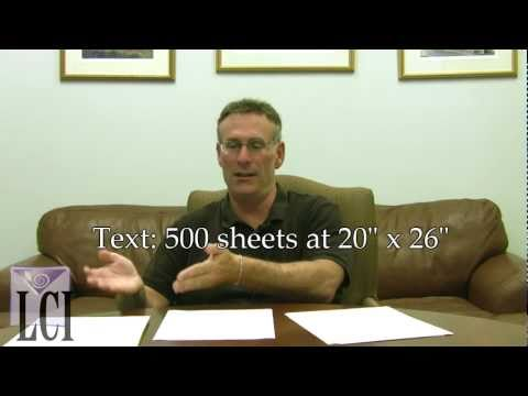 Text Weight Paper, Card Stock Paper - Paper Density Explained?