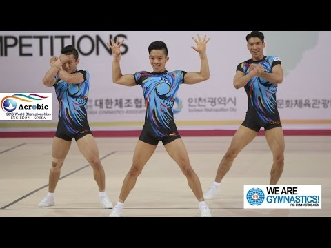 Korea 2 (KOR) - 2016 Aerobic Worlds, Incheon (KOR) - Qualifications Trio