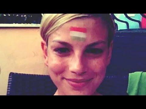 ITALIA SPAGNA 0-4 - Emma Marrone sbaglia bandiera e posta la foto su twitter
