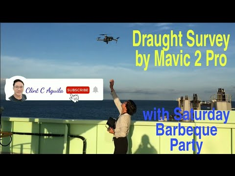 Mavic 2 Pro Drone Onboard for Cargo Draught Survey
