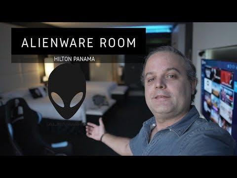 PARAISO de Gamers!!! #Alienware room - HILTON PANAMA 2018