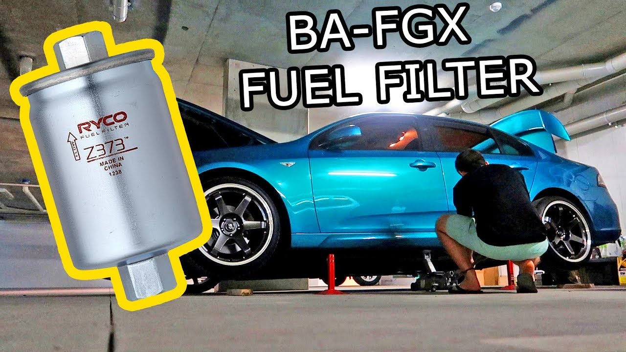 How To Replace A Fuel Filter In A Ford Falcon Ba Fgx Youtube