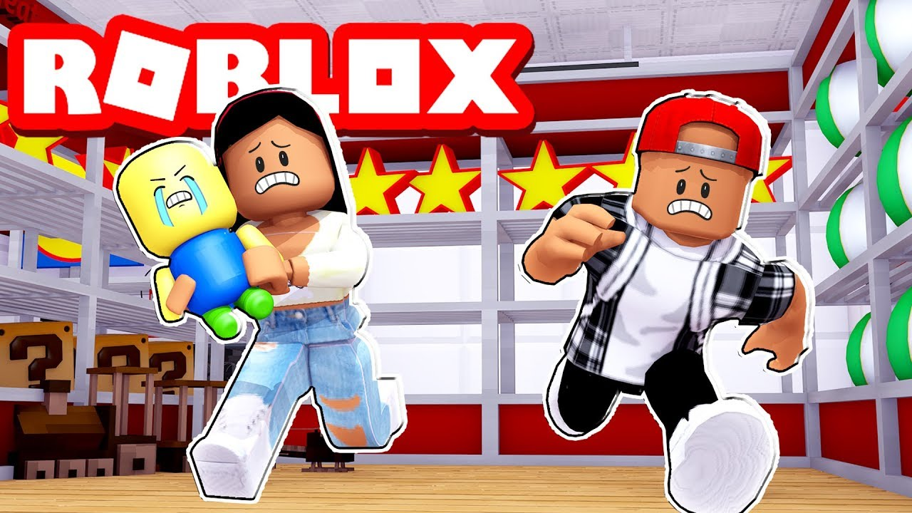 We Took Our New Baby To A Toy Store Roblox Escape The Toy Store