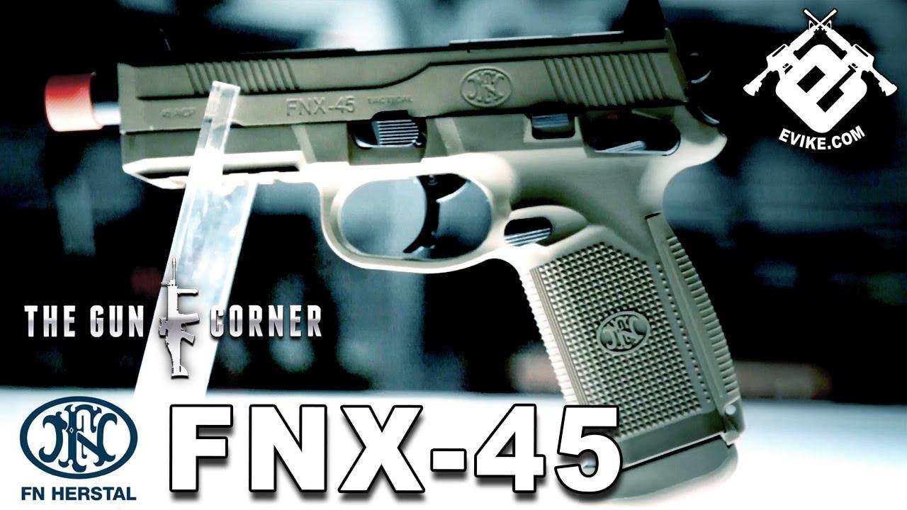 FN FNX-45 Gas Blowback Pistol [The Gun Corner] Airsoft Evike com