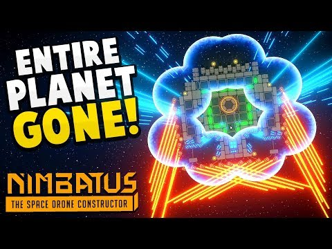 DESTROYING AN ENTIRE PLANET with the PERFECT DRONE! - Massive Drone Update! - Nimbatus Gameplay